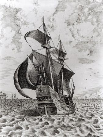 Ship, Engraved by Hieronymus Cock