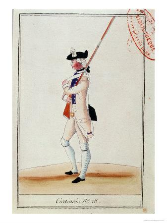 Soldier of the Grenadier Gatinois Regiment, c.1780
