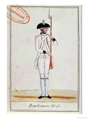 Soldier of the Regiment de Bourbonnois, c.1780