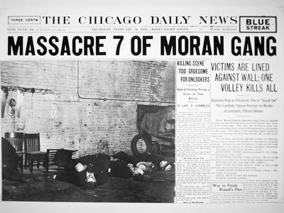 St. Valentine's Day Massacre, Front Page of the Chicago Daily News, 14th February 1929