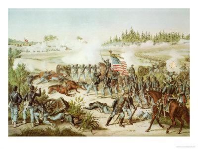 Black Troops of the 54th Massachusetts Regiment at the Battle of Olustee, Florida, 1864