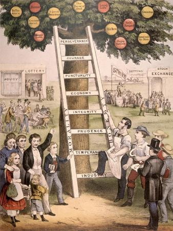 The Ladder of Fortune, to the American Dream, 1875