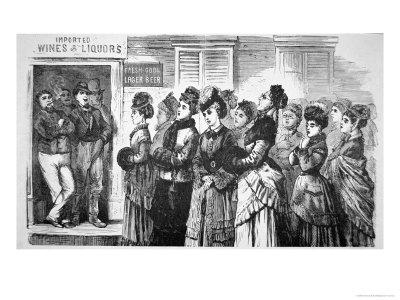 National Christian Temperance Union Singing Hymns and Praying For Lost Souls in a Saloon, 1874