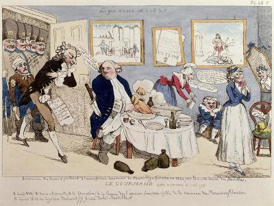 Le Gourmand, Caricature of Louis XVI