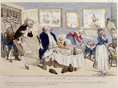 Le Gourmand, Caricature of Louis XVI