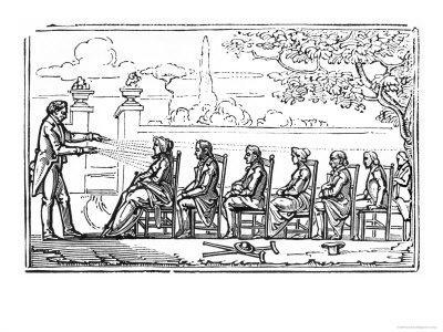 Group Magnetic Therapy, Illustration from Therapeutique Magnetique by Baron du Potet, 1863
