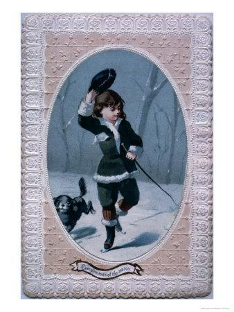 Compliments of the Season, Victorian Christmas Card