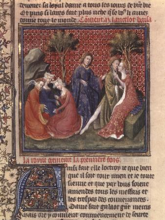 The Quest For the Holy Grail and Arthurs Death, Part of the Manuscript Lancelot of the Lake