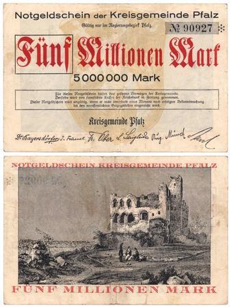 Five Million Mark Banknote, c.1923