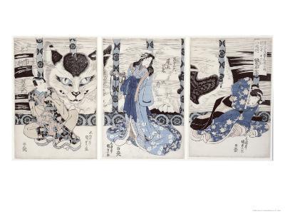 Yatsuhashi at Okasaki, Tokaido Gojusan Eki No Uchi, The 53 Stations of Tokaido, c.1835