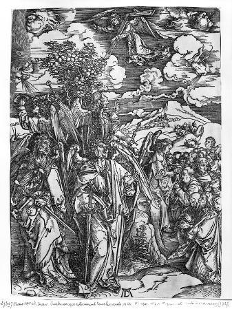Scene from the Apocalypse, the Four Angels Holding the Winds, Latin Edition, 1511