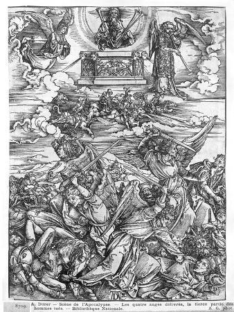 Scene from the Apocalypse, the Four Vengeful Angels, Latin Edition, 1511