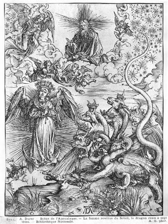 Apocalypse, the Woman Clothed with the Sun and the Seven-Headed Dragon, Latin Edition, 1511