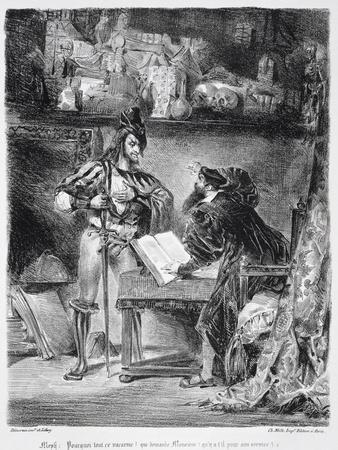 First Meeting Between Faust and Mephistopheles: 'Why All This Noise ', from Goethe's Faust, 1828