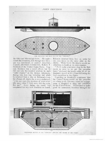 Plans of the Ironclad USS Monitor Designed by John Ericsson