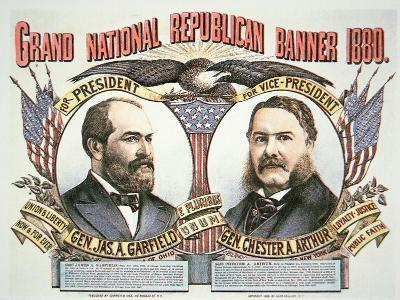 Campaign Poster For Presidential Candidate James A. Garfield