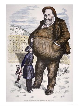 Cartoon Featuring William Marcy Boss Tweed