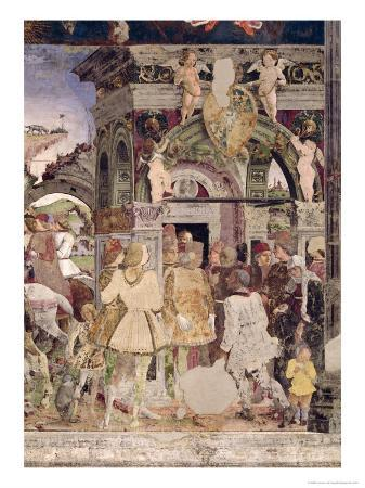 Borso D'Este, Prince of Ferrara, Rendering Justice: March from the Room of the Months, 1467-70