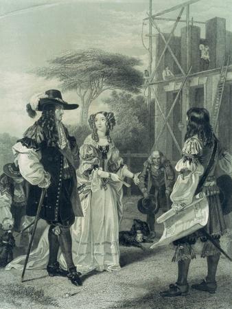 Nell Gwynn Persuading Charles II to Build a Hospital