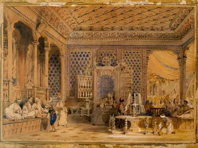 Interior of a Turkish Caffinet, Constantinople, 1838