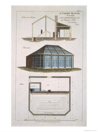 Design For a Green House Executed For J. E Liebenrood at Prospect Hill