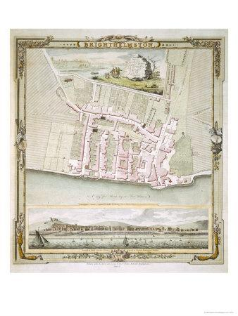 Map of Brighton by Thomas Yeakell and William Gardner, Engraved by Whitchurch, 1779