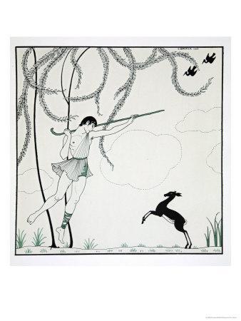 Narcisse, from the Series Designs on the Dances of Vaslav Nijinsky