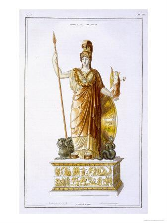 Statue of Minerva by Phidias, General Study of Greek Architecture and Sculpture, c.1814