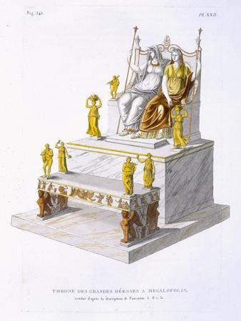 Throne of the Great Goddesses at Megalopolis, c.1814