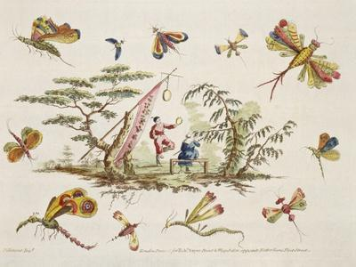 Butterflies and Two Central Figures