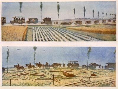 Roads of France, a and B, British Artists at the Front, Continuation of the Western Front, 1917