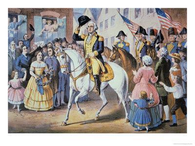 George Washington Enters New York City 25 November, 1783 After the Evacuation of British Forces
