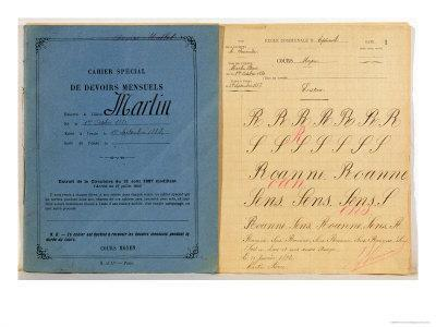 Child's Exercise Book from the School at Epineuil, 1892
