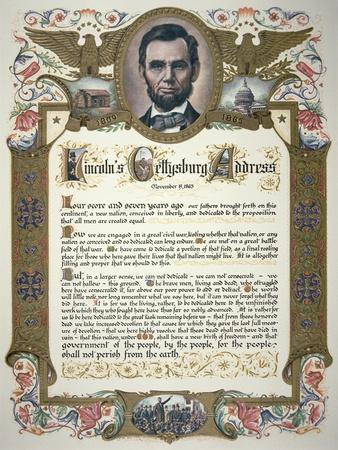 The Gettysburg Address, Delivered by Abraham Lincoln