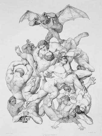 Beelzebub Expels the Fallen Angels, Illustration For an Edition of Paradise Lost by John Milton