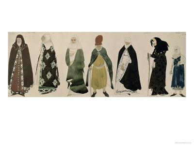 Costumes For the Messengers from The Martyrdom of St. Sebastian, 1911