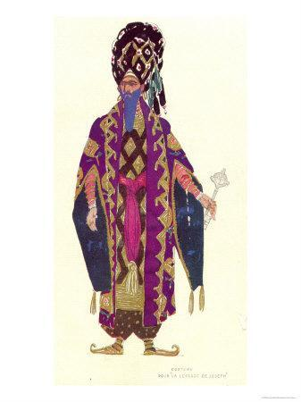 Costume Design For a Character in The Legend of Joseph, 1914