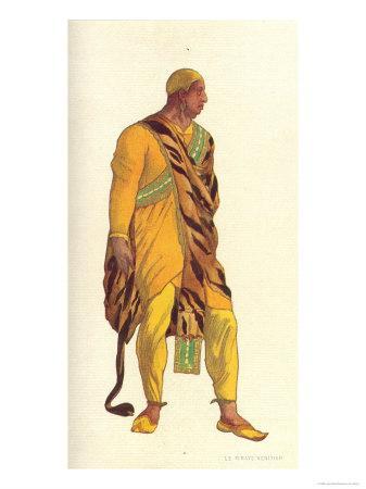 Costume Design For a Venetian Pirate in The Legend of Joseph, 1914