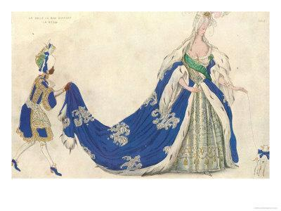 Costume Design For the Queen in 'sleeping Beauty', 1921