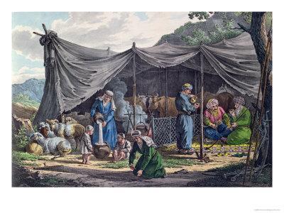 Bedouin Encampment in Lebanon, Early 19th Century