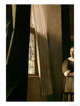 Lady Writing a Letter with Her Maid, c.1670