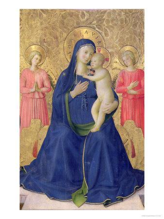 The Bosco Ai Frati Altarpiece: The Virgin and Child Enthroned with Two Angels, 1452