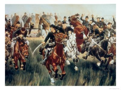 5th Us Cavalry Charge at Gaines Mill, 27th June 1862 During the Peninsular Campaign