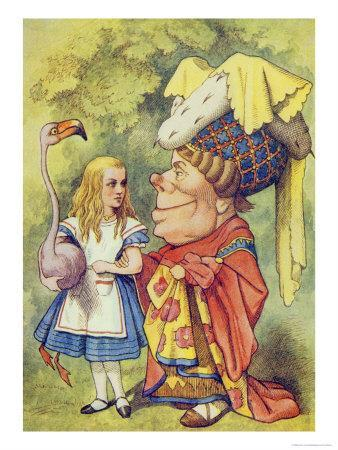 Alice with the Duchess, Illustration from Alice in Wonderland by Lewis Carroll