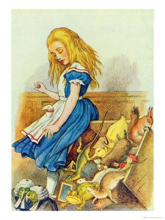 Alice Upsets the Jury-Box, Illustration from Alice in Wonderland by Lewis Carroll