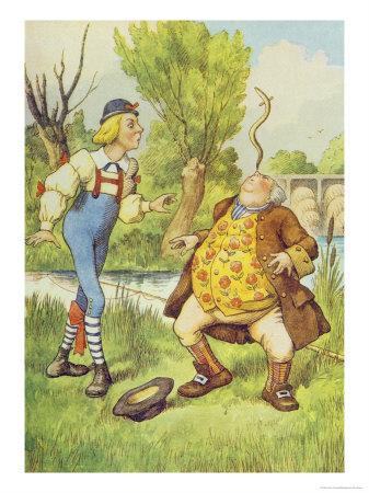 Father William Balancing an Eel on His Nose, Alice in Wonderland by Lewis Carroll