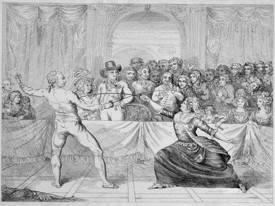 The Chevalier D'Eon, Dressed as a Woman, in a Fencing Match