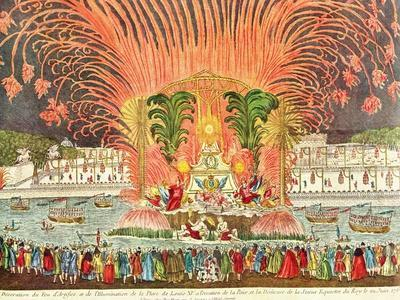 Firework Display, Palace Louis XV, Dedication of the Equestrian Statue of the King, 1763
