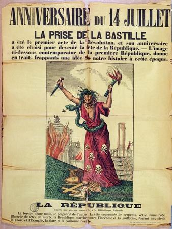 Royalist and Catholic Poster Rejecting the Celebration of the Quatorze Juillet, 1880