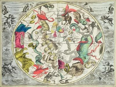 Map of the Southern Hemisphere, from The Celestial Atlas, or the Harmony of the Universe